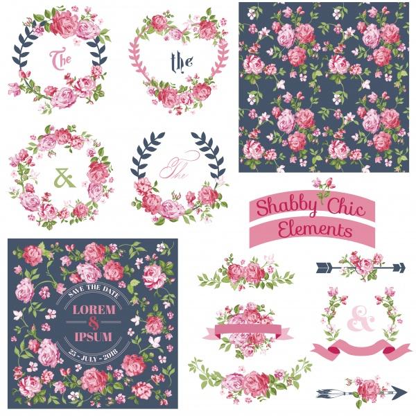 Винтажные цветочные наборы #1 (10 файлов)