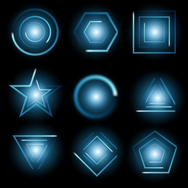 Vector set of glow light effect stars bursts with sparkles 2 (38 файлов)