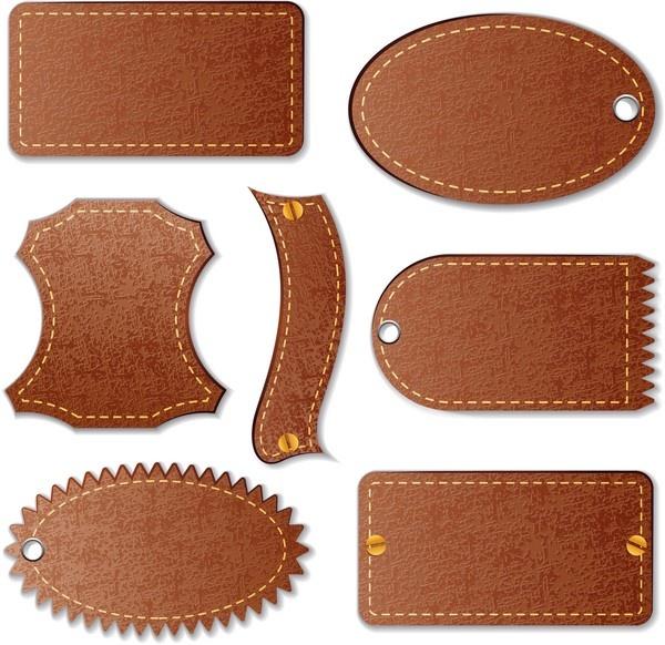 Кожаные фоны и декоративные элементы - Leather backgrounds and decorative elements (15 файлов)