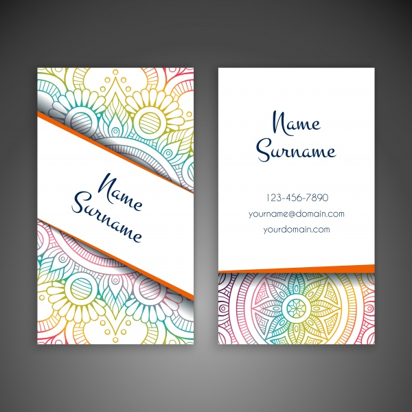 Business card and vintage decorative elements, hand drawn background (26 файлов)