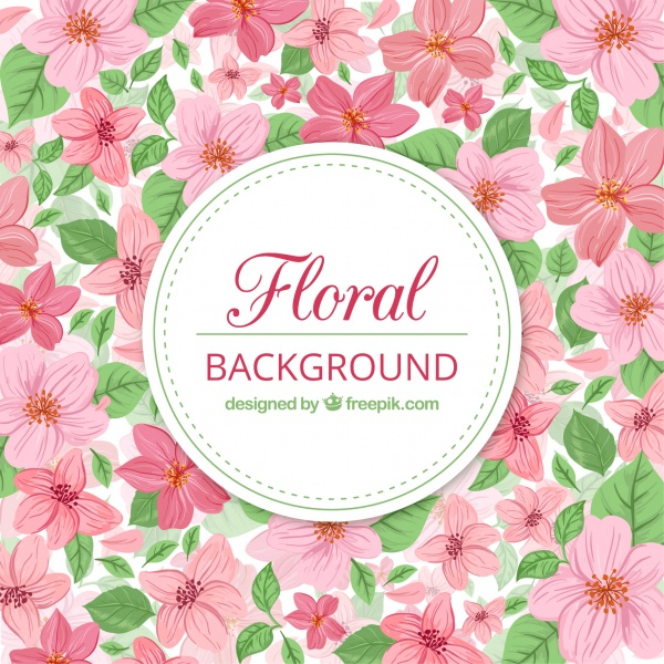 Cute floral background pink color (5 файлов)