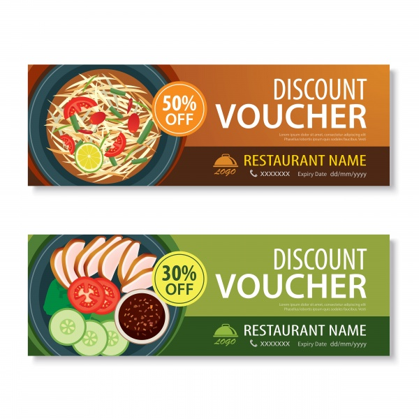Discount voucher template and various food on wooden background (24 файлов)