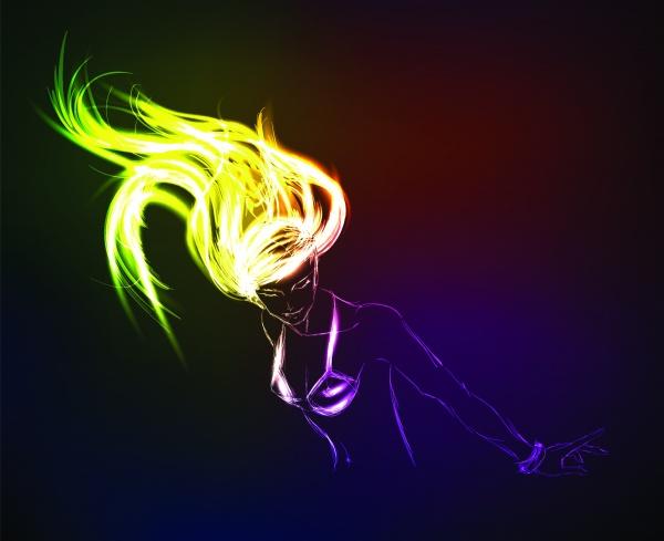 Neon sketch vector (16 файлов)