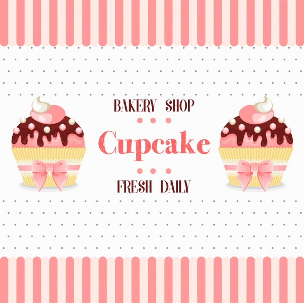 Set vector cupcake, backgrounds and stickers (32 файлов)