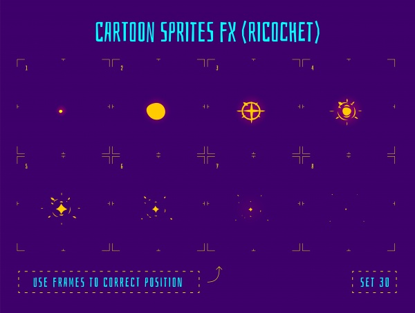 Sprites of energy explosion and light effect for game creation (50 файлов)