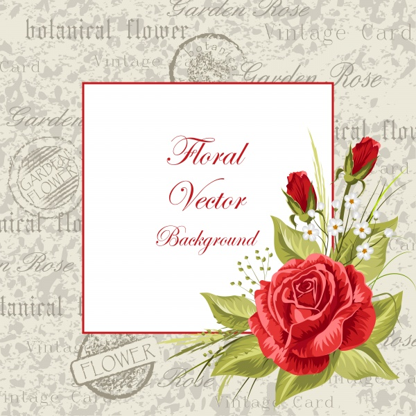 Vector illustration of a beautiful vintage frame with flowers for invitations and birthday cards (30 файлов)