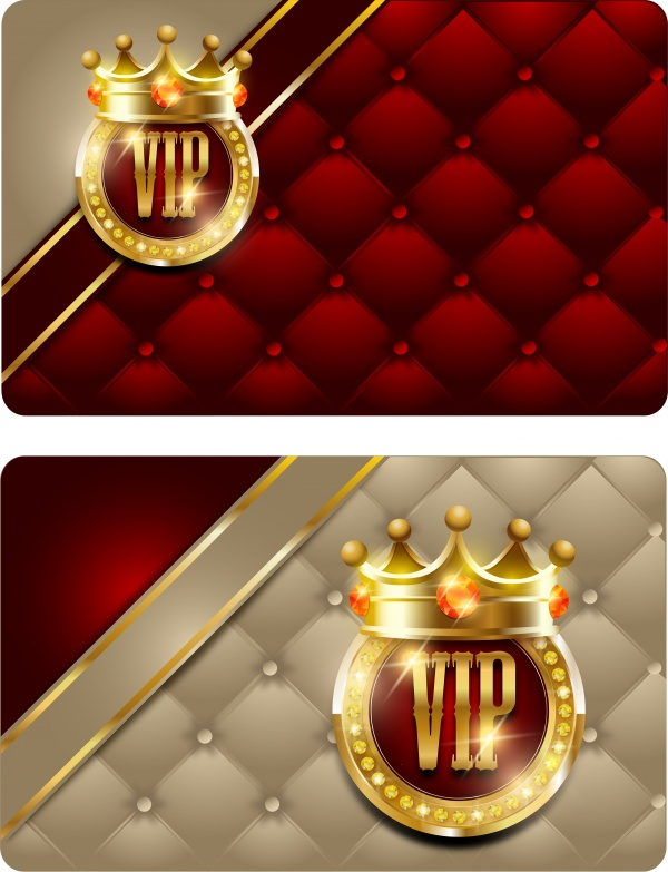 VIP card with gold decoration and gold crowns (18 файлов)