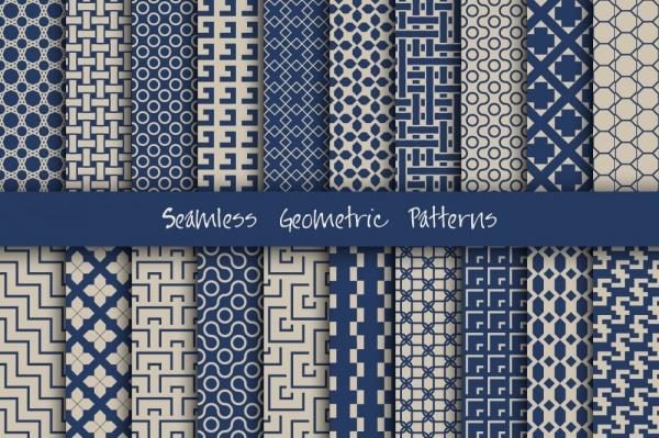Бесшовные фоны в векторе 42. Seamless Pattern Collection 42 (31 файлов)