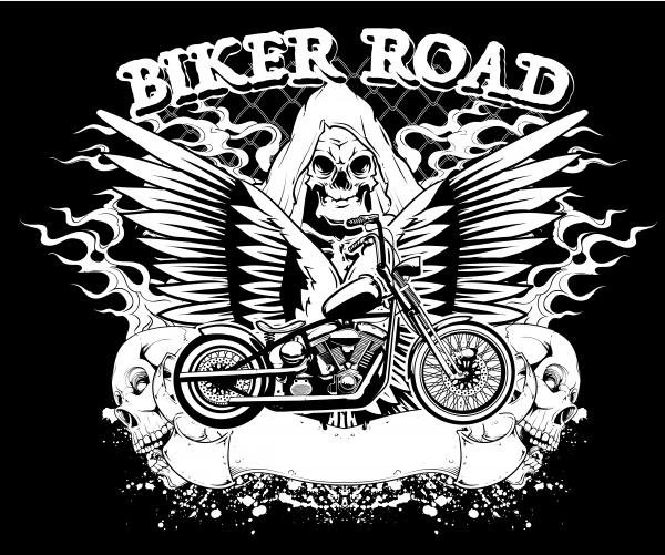 Motorcycle background. Bike Design Elements #1