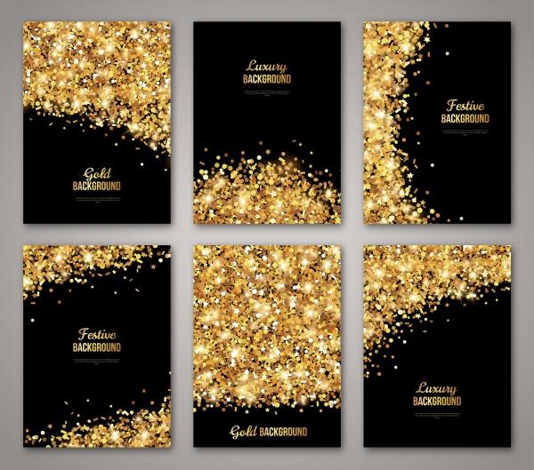 Golden Cards Vector 2