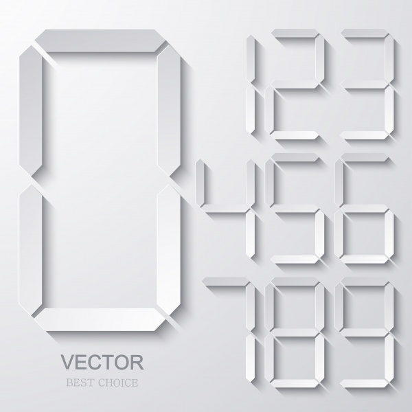 Paper Design Elements. Flower, electronic numbers, bubble speech, infographic, film icon, arrows background #2