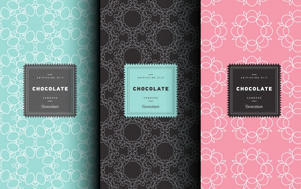 Floral Patterns for Packaging Vector