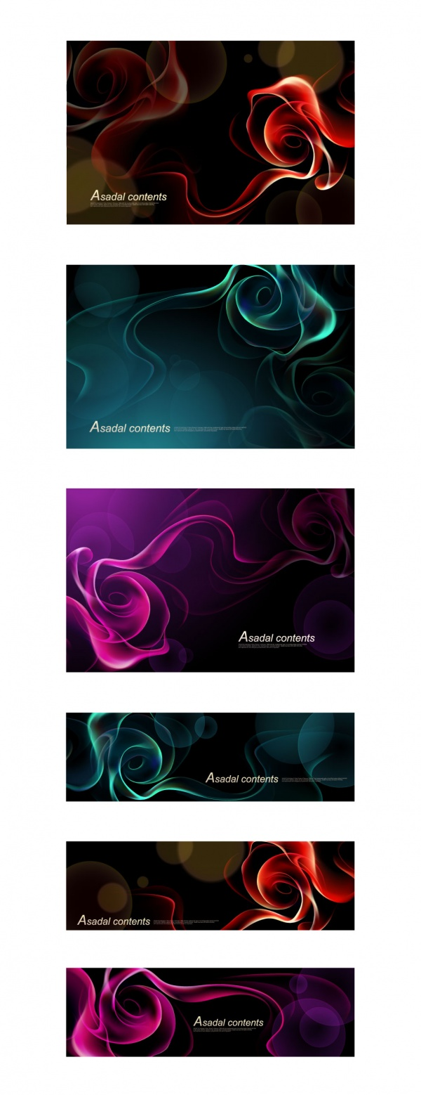Abstract bright shining design elements #1