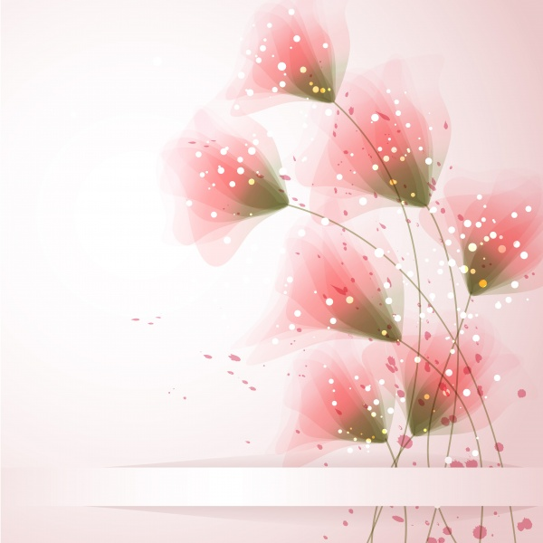 Vector backgrounds gentle flowers