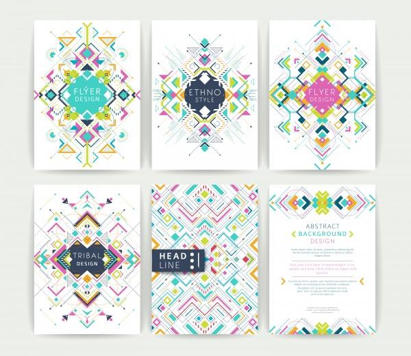 Ethno Style Cards Vector (6 файлов)