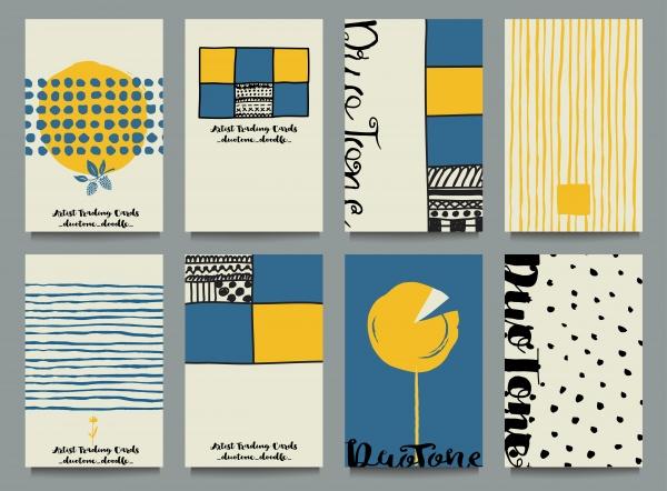 Glamour Slyle Cards Vector (6 файлов)