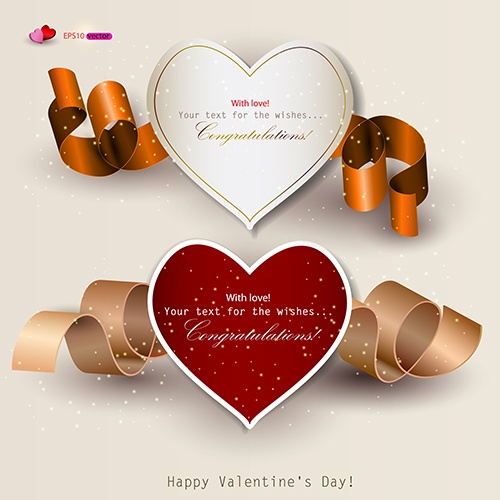 Vector background. Set of holiday banners with ribbons #1 (16 файлов)