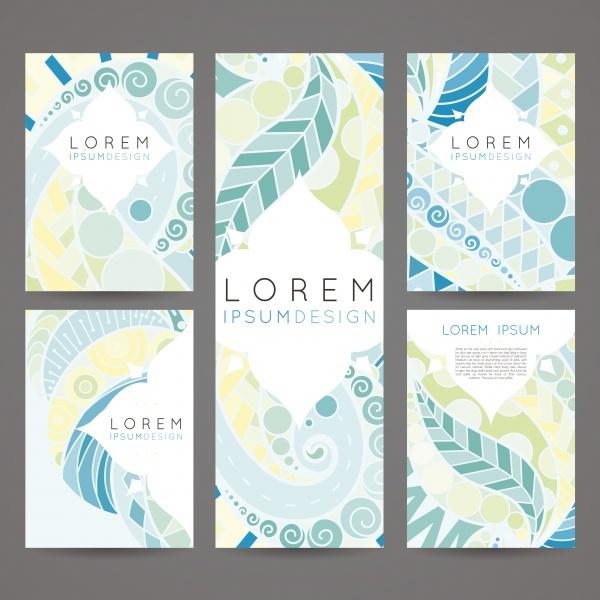Brochures in random colorful Style Cards #2 (24 файлов)