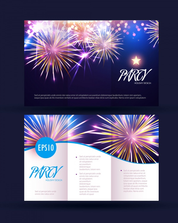 Sparkling Brochure Templates Vector (8 файлов)