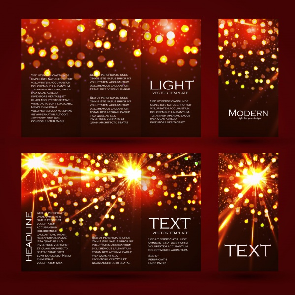 Sparkling Brochure Templates Vector (8 файлов)