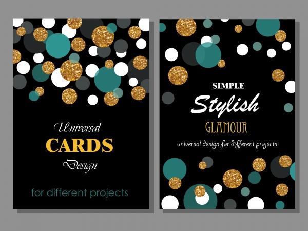 Glamour Stylish Cards Vector (6 файлов)