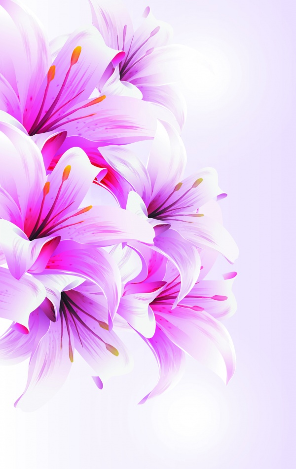 Collection backgrounds gentle flowers #1 (21 файлов)