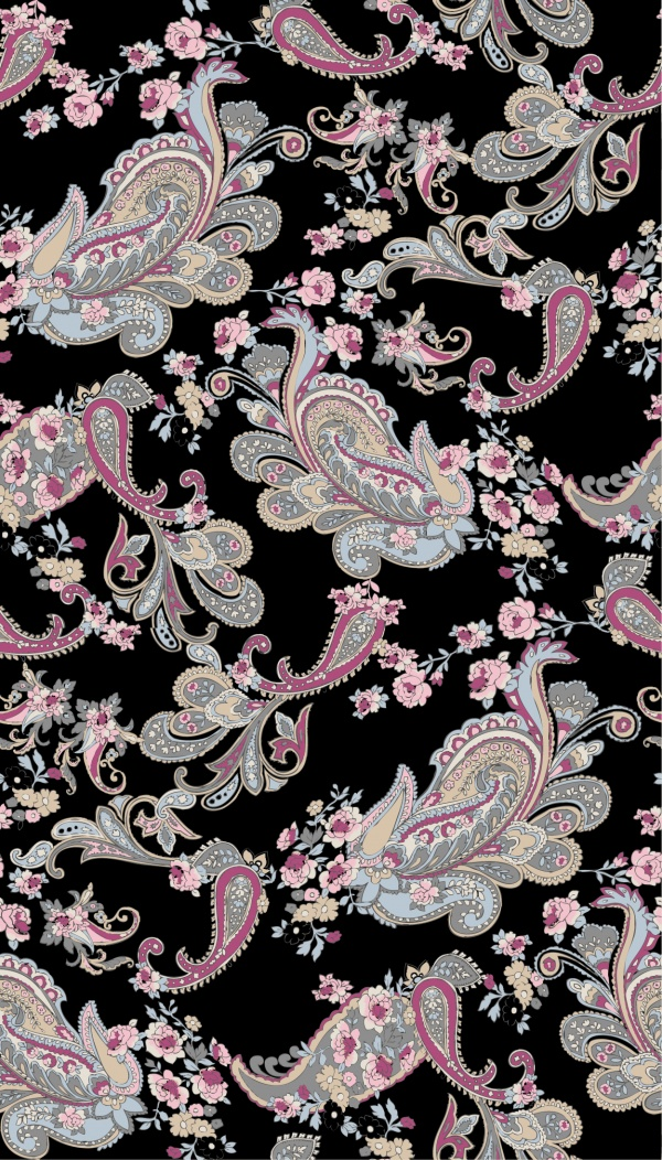 Vintage Paisley Backgrounds Vector (10 файлов)