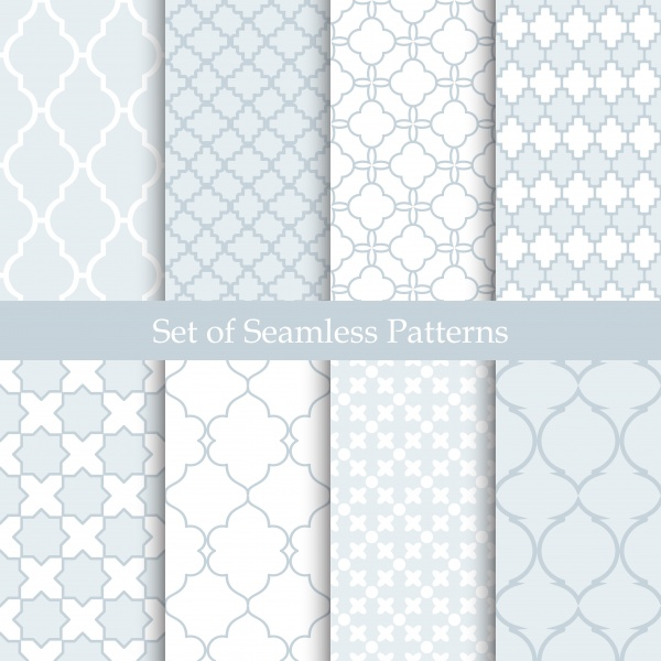 Vintage Pastel Seamless Patterns Vector (8 файлов)