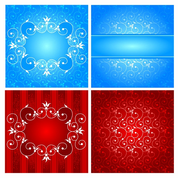 Exquisite pattern background vector #1 (24 файлов)